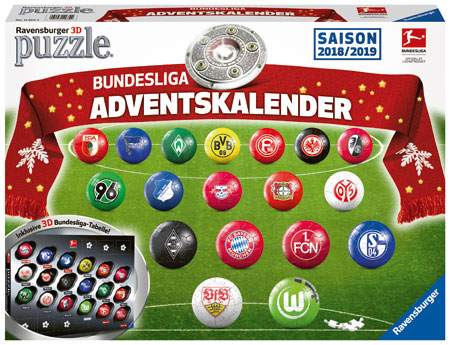 3D Puzzleball Set - Bundesliga Adventskalender
