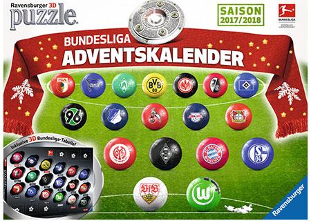 3D Puzzle - Bundesliga Adventskalender Saison 2017/2018