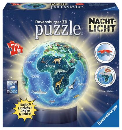 3D Nachtlichtpuzzle - Unsere Erde