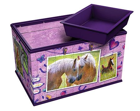 3D Puzzle - Aufbewahrungsbox - Pferde