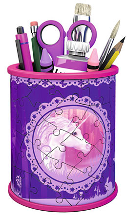 Puzzle 3D Puzzle - Girly Girl - Utensilo Einh�rner