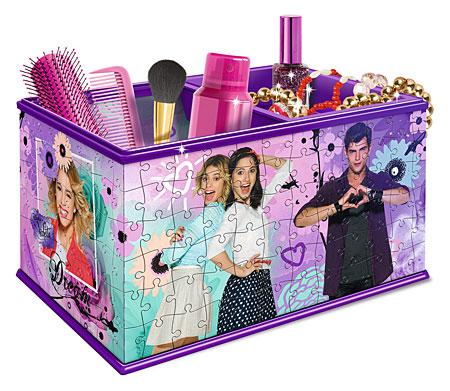 3D Puzzle - Aufbewahrungsbox - Disney Violetta