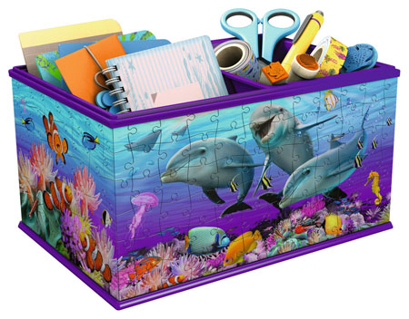 3D Puzzle - Aufbewahrungsbox - Unterwasserwelt