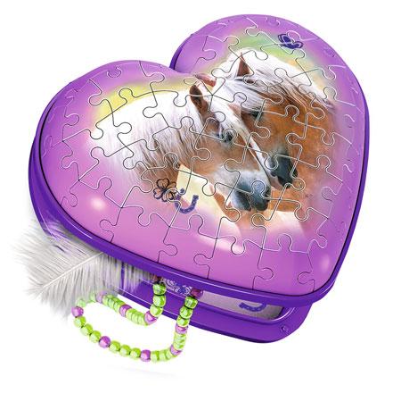 3D Puzzle - Herzschatulle - Pferde