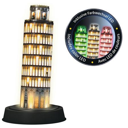 3D Puzzle - Pisaturm bei Nacht
