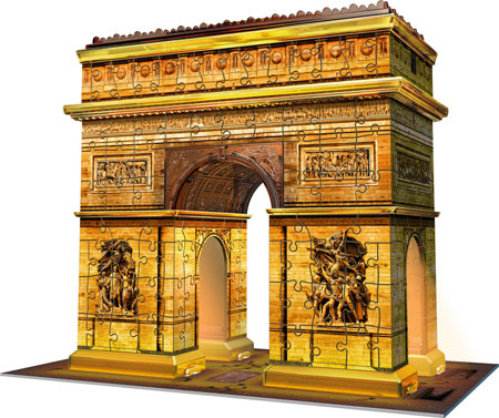 3D Puzzle - Triumphbogen bei Nacht