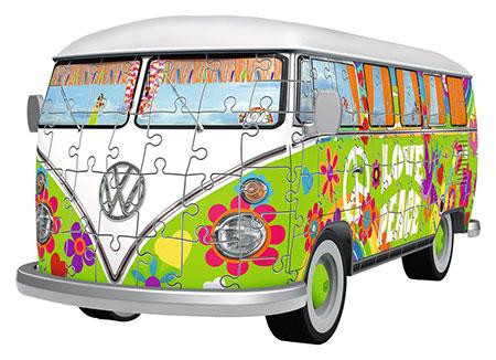 3d-puzzle-volkswagen-t1-hippie-style