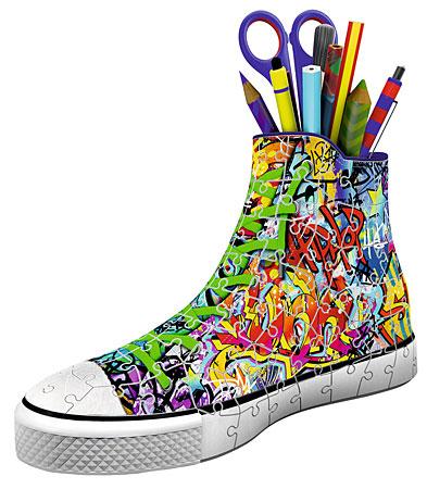 3d-puzzle-sneaker-graffiti