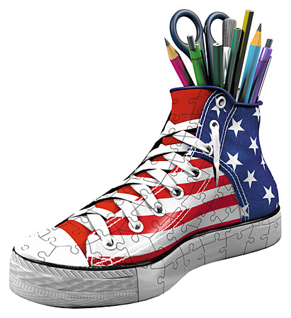 3D Puzzle - Schuh - Sneaker American Style