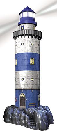 3D Bauwerke - Leuchtturm bei Nacht