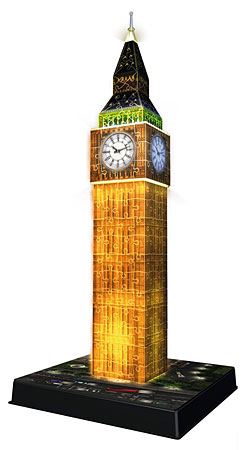 3D Bauwerke - Big Ben bei Nacht