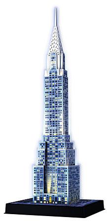 3D Bauwerke - Chrysler Building bei Nacht