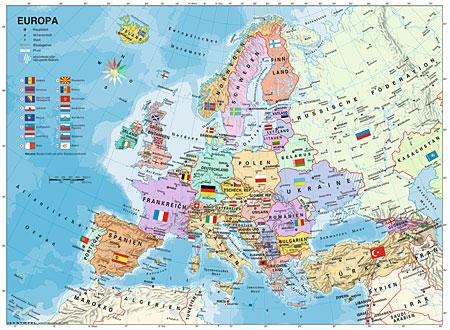 politische-europakarte