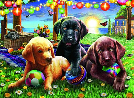 Hunde Picknick