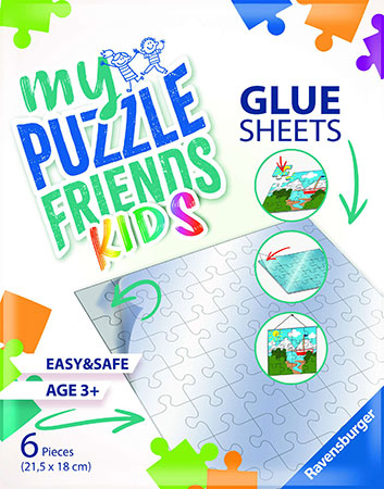 My Puzzle Friends Kids Glue Sheets