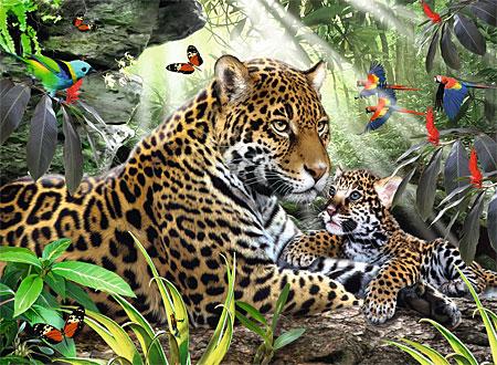 jaguarmama-mit-ihrem-nachwuchs