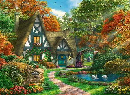 Cottage im Herbst