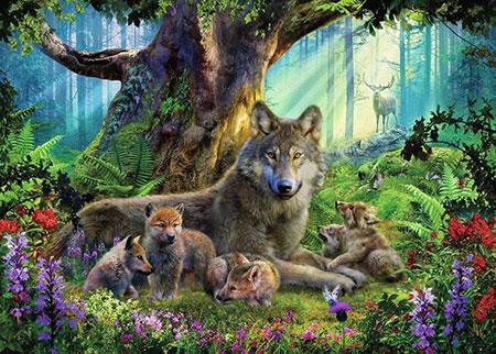 Wölfe im Wald