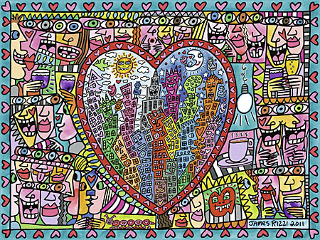 James Rizzi: All that Love in the Middle of the City