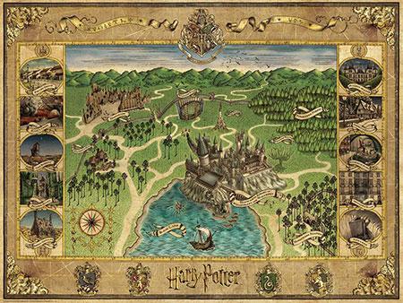 Harry Potter - Hogwarts Karte