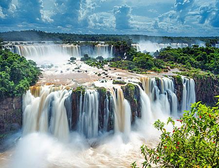 Wasserfälle von Iguazu in Brasilien