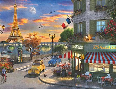 Romantische Abendstunde in Paris