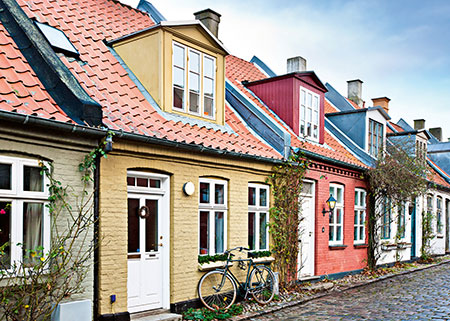 Häuser in Aarhus, Dänemark