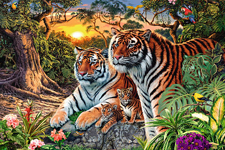 Versteckte Tiger