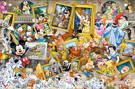 Mickey als Künstler