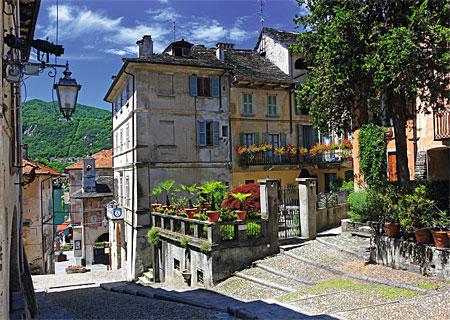 Altstadt in Piemont