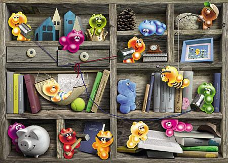 Gelini - Spielen im Bücherregal