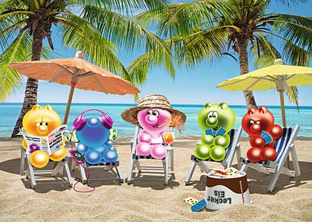 Gelinis im Sommerurlaub