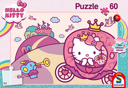 Glitzerpuzzle - Prinzessin Kitty