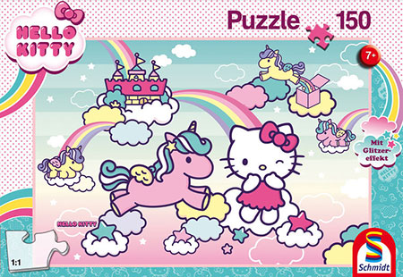 Glitzerpuzzle - Kittys Einhorn