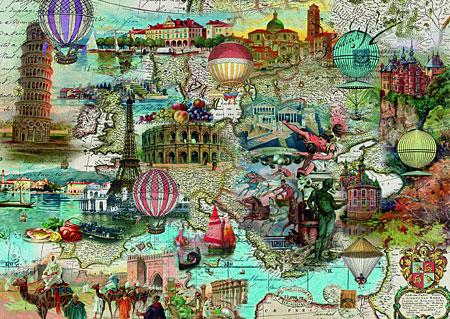 Ballonfahrt durch Europa