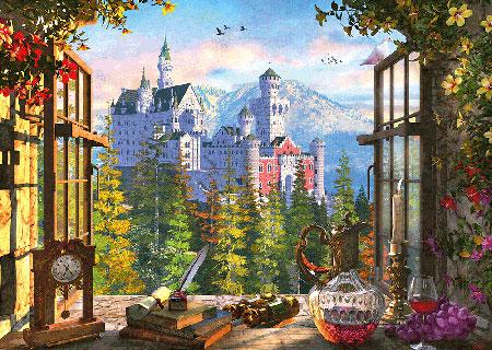 Blick aufs Märchenschloss