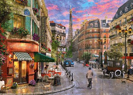 Straße zum Eiffelturm