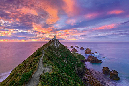 Nugget Point Leuchtturm, The Catlins, South Island - New Zealand