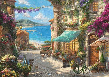 Café an der italienischen Riviera