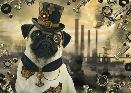 steampunk-hund