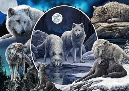 Prächtige Wölfe