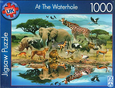 afrikanische-tiere-an-der-wasserstelle