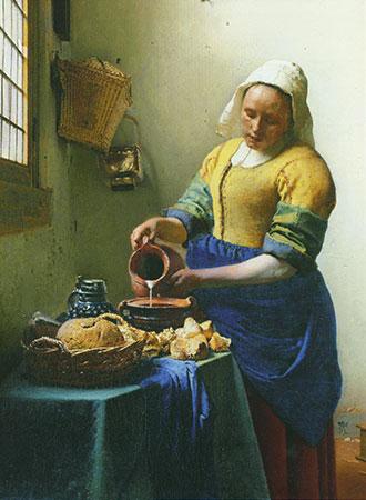 Dienstmagd mit Milchkrug, Vermeer