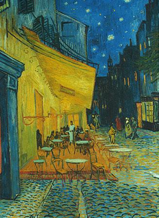 Caféterrasse am Abend, van Gogh