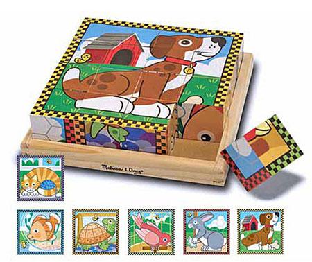 Würfelpuzzle - Haustiere