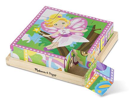 Würfelpuzzle - Prinzessinnen und Märchen