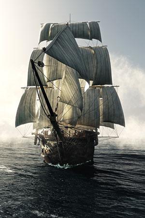 Majestätisches Segelschiff