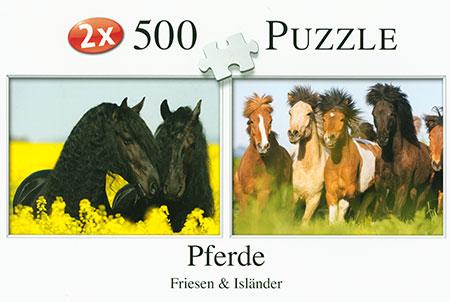 Pferde - Friesen und Isländer