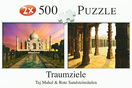 Traumziele - Taj Mahal und Rote Sandsteinsäulen