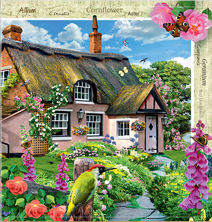 Englisches Cottage steppuzzle 79805 englisches cottage mit blütenpracht